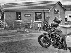 Tea Room at Laid Loch Eriboll (Mary&Neil) Tags: elements scotland motorcycle biking