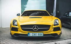 Mercedes SLS AMG Black Series (ELC Photo) Tags: supercars spotting supercar spotter spotters shooting cars car coffee knokke 2018 hypercar hypercars photography automobile zoute european elc luxury lumix panasonic world wallpaper mercedes benz amg sls black series yellow solarbeam