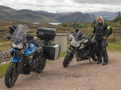 Tea Stop at Laid Loch Eriboll (Mary&Neil) Tags: elements scotland motorcycle biking