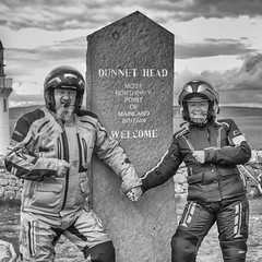 Together at the Top (Mary&Neil) Tags: elements scotland motorcycle biking