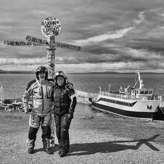 John O'Groats (Mary&Neil) Tags: elements scotland motorcycle biking
