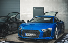 Audi R8 V10 Plus (ELC Photo) Tags: supercars spotting supercar spotter spotters shooting cars car coffee knokke 2018 hypercar hypercars photography automobile zoute european elc luxury lumix panasonic world wallpaper audi r8 capristo