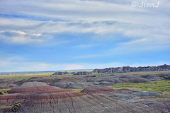 Badlands Vista (Jim Johnston (OKC)) Tags: badlands southdakota sky clouds grasslands