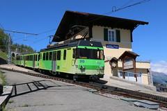 2019-06-13, TPC, Leysin Village (Fototak) Tags: zahnradbahn railway treno train crémaillère switzerland tpc al 313 363 361