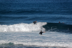 Costa Adeje, Santa Cruz de Tenerife, Canary Islands, Spain (wildhareuk) Tags: canaryislands canon canoneos500d people sea spain tamron18270mm tenerife tenerife2019 water wave surfing tamron img9475dxo