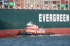 Harold A. Reinauer II (jelpics) Tags: everleader evergreen containership tug tugboats haroldareinauerii cargoship merchantship commercialship boat bos boston bostonharbor bostonma harbor massachusetts ocean port ship sea vessel