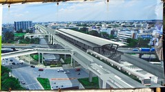 artist's conception of the laksi traffic circle after the skytrain station is finished (the foreign photographer - ฝรั่งถ่) Tags: artist conception skytrain station laksi traffic circle bangkhen bangkok thailand nikon d3200