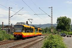 AVG 846 (Karlsruher Stadtbahn) auf der Ruhr-Sieg-Strecke in Hagen-Hohenlimburg, 19.06.2019 (-cg86-) Tags: tram strasenbahn karlsruherstadtbahn stadtbahnkarlsruhehagenhagenhohenlimburgruhrsiegstreckekbs445sonderfahrtsonderzugkirchentagdortmundkirchentag dortmundkirchentag 2019 eisenbahn bahnbilder eisenbahnfotografie sauerland conon eos eos80d