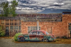 Cow Canyon Trading Post (Bluescruiser1949) Tags: wreck car abandoned tradingpost colours colors brightcolors cowcanyon usa utah bluff
