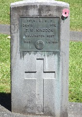 Service Persons Area E, Row 3, Plot 53 (Discover Waikumete Cemetery) Tags: waikumetecemetery soldiers grave