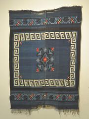 Weavings Mexican Oaxaca Chocholteco Textiles (Teyacapan) Tags: ngigua chocholteco serape weavings mexico oaxaca museo tepelmeme