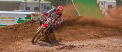 Power Through The Berm (John Kocijanski) Tags: motorcycle motocross vehicle canon7d race sport canon70300mmllens people red