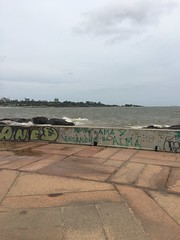 Rambla - Montevideo (grassit) Tags: river landscape uruguay lowlight montevideo riodelaplata cloudyday shotwithiphone