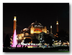 Splendid Hagia Sophia - Ayasofya.. (natureflower photography) Tags: hagia sophia museum former greek orthodox christian patriarchal cathedral later an ottoman imperial mosque middle ages byzantine architecture ayasofya turkish unesco world heritage site people trees lights fences colorful fountain istanbul