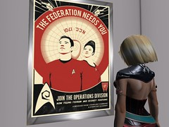 Yeoman and Security Position Openings Again (Cherie Langer) Tags: scifi sf space spaceship blonde poster
