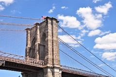 I Bought a BRIDGE! (caboose_rodeo) Tags: 686 icon brooklyn nyc newyorkcity clouds sky skyline infrastructure brooklynbridge