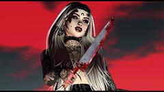 Blood Sacrifice (Diavkha) Tags: goth gothic dark creepy tattoo macabre horror femboy boy trap drag crossdressing gay genderbender secondlife second life avatar photography bulge demon demonic witch wicca