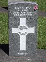 Service Persons Area E, Row 3, Plot 59 (Discover Waikumete Cemetery) Tags: waikumetecemetery grave