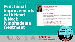 #ACRM2019 Symposia: Cancer Rehabilitation Gutierrez #625094-2 (ACRM-Rehabilitation) Tags: acrmprogressinrehabilitationresearchconference acrmconference acrm acrm|americancongressofrehabilitationmedicine annualconference medicalconference medicaleducation interdisciplinary interprofessional symposia symposium artsneuroscience artscience chicago hiltonchicago acrm2019 neuroscience arttherapy musictherapists musictherapy braininjury cancerrehabilitation cancerrehabilitationnetworkinggroup geriatric geriatricrehabilitation