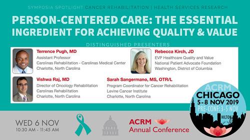 #ACRM2019 Symposia: Cancer Rehabilitation Pugh #602448