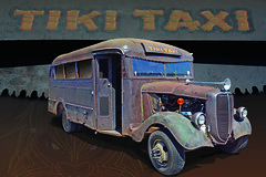 Tiki Taxi - 1938 Ford School Bus (Brad Harding Photography) Tags: tikitaxi 1938 38 ford fordmotorcompany heartlandcarshow paola kansas restoration restored ratrod schoolbus carshow antique crusty rust rusty rustic