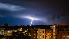 Lightning over Little Rock. (issafly) Tags: night landscape storm nikkor1424mm explorearkansas d500 lightning city cityscape clouds arkansas citylights nikond500 nikon nature littlerock 2019 thunderstorm downtown