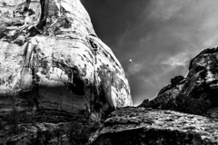 Arches (micadew) Tags: moon mountains landscape photography utah blackwhite interesting photoshoot arches moab bnw tarvel travelphotography maob micadew interestingmicadew
