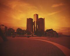 Explore Detroit - Lomography Redscale (IV2K) Tags: mamiya mamiya7 mamiya7ii mediumformat film 120film lomography r redscale lomographyredscale lomo detroit generalmotors gm exploredetroit michigan detroitmichigan motorcityshooters motorcity filmisnotdead ishootfilm istillshootfilm red
