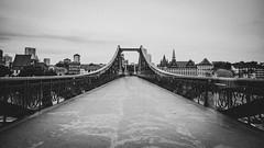 Eiserner Steg (Christoph Wenzel) Tags: frankfurt architektur blackandwhite brücke sonyalpha6000 stadt bw deutschland hessen sigma16mmf14dcdn frankfurtammain