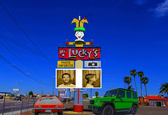Mr. Lucky's (oybay©) Tags: mrluckys mister lucky mr arizona i17 101loop 101 phoenix phoenixarizona az microcar bubblecar isetta bmwisetta weird car automobile barrettjackson scottsdale green white twotone dayblo angle coolcar frontdoor interesting vehicle grandavenue
