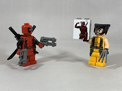 2019-170 - National Watch Day (Steve Schar) Tags: nationalwatchday picture poster wolverine deadpool minifigure lego iphonexs iphone project365 sunprairie wisconsin 2019