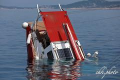 Motor sailing yacht sinking (chk.photo) Tags: ocean landschaft outdoor tauchen underwater landscape water light scuba sailboat yacht ship kroatien croatia segelboot flickrtravellaward flickr meer