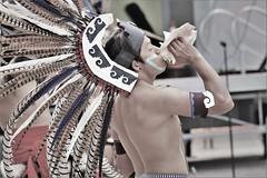 norland d. cruz photography: aztec man plays a conch shell horn (norlandcruz74) Tags: natives native american filipino pinoy norlandcruz d7200 dx nikon portraits portrait people mexicans mexican aztecs aztec