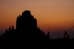 Orange Sunset Behind Bagan Temple, Myanmar (AdamCohn) Tags: adam cohn adamcohn bagan burma myanmar oldbagan architecture evening pagoda paya silhouette streetphotographer streetphotography stupa sunset temple temples wwwadamcohncom