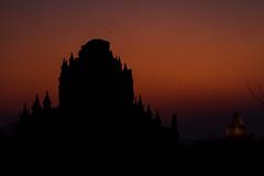 Darkening Sunset, Bagan Temple Myanmar (AdamCohn) Tags: adam cohn adamcohn bagan burma myanmar oldbagan architecture evening pagoda paya silhouette streetphotographer streetphotography stupa sunset temple temples wwwadamcohncom