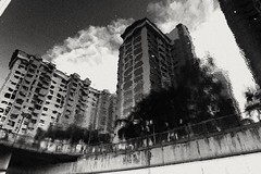 2019-06-20_12-57-48 (jumppoint5) Tags: blackandwhite bnw hdb flats city urban reflection clouds contrast
