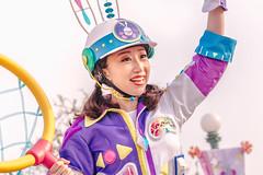 Usatama Catcher (EatThisLight) Tags: tokyo tokyodisneyland disneyland japan disney usatamaontherun usatama girl pigtails helmet purple parade performer dancer cute color colorful themepark wave smile easter spring