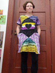 Nonbinary dress (quinn.anya) Tags: quinn sewing nonbinary dress purple yellow heart