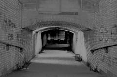 """You told me to go to Hell. So I did."" (spratpics) Tags: ""you told me go hell so i did"" photographybypaulwalker paulwalker teesside uk blackandwhite monochrome darkart spooky mood tunnel stocktonstation"