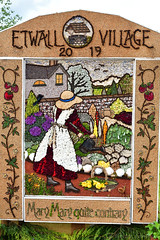 Etwall Village Well Dressing (Bri_J) Tags: rhs chatsworthflowershow2019 chatsworthhouse edensor derbyshire uk chatsworth flowershow nikon d7500 etwallvillage welldressing petals marymaryquitecontrary