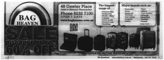 Bag Heaven (RS 1990) Tags: theadvertiser newspaper microfilm scan 2010s adelaide australia australian southaustralian bagheaven gawlerplace july 2013