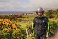 Mary on the A9 near Helmsdale (Mary&Neil) Tags: elements