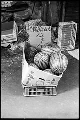 One for Watermelon day (waex99) Tags: blue 2019 march leica m6 film analog kodak trix taiwan taipei market watermelon fruit pasteque marche argentique bw nb epson v800