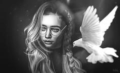 """May my heart always be open to little birds who are the secrets of living"" (Felixamberly) Tags: eecummings abelkorzeniowski poem bnw blackandwhite sl doux genusproject fleshx"