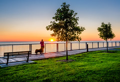 Sunrise Walk (Neil Cornwall) Tags: 2019 canada essexcounty june lakestclair lakewoodpark ontario tecumseh spring sunrise