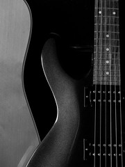 Guitar Curves (Andy Sut) Tags: andysutton nottingham england uk lumix panasonic guitars art curves cort crafter electric solidbody acoustic music instrument monochrome blackandwhite bw studiolighting