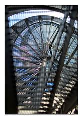 47 [titre hélice chaotique] (Armin Fuchs) Tags: arminfuchs lavillelaplusdangereuse würzburg anonymousvisitor thomaslistl wolfiwolf jazzinbaggies staircase circularstairway up blue diagonal challenge 35mm alterhafen