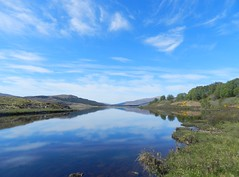 Loch Achanalt, Highlands of Scotland, May 2019 (allanmaciver) Tags: loch achanalt highlands scotland blue sky weather clouds reflections low view peace quiet silence allanmaciver