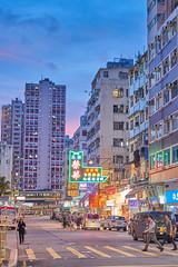 Sunset Tsuen Wan (Thomas Cheung Bus Photography) Tags: sony a7iii ilcea7iii a7m3 building tsuenwan nightphotography sunset neonsign