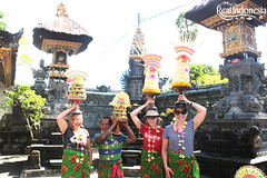 Carrying the Offerings (Real Indonesia) Tags: bali indonesia local culture offerings temple